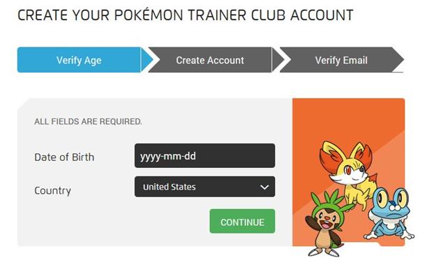 How do I verify my child's Pokémon Trainer Club account